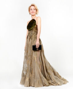 Gillian Anderson Dior Elbisesi